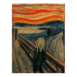 Carte Postale Le cri perçant par Edvard Munch