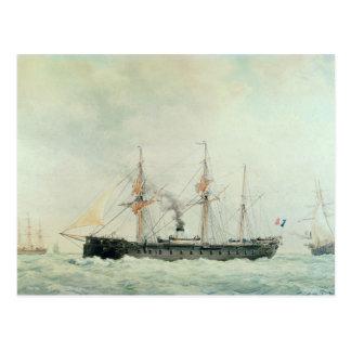 """Carte Postale Le cuirassé français, """"La Gloire"""", 1880"""