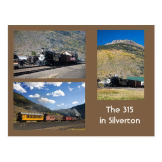 Carte Postale Le D&RG reconstitué 315 dans Silverton