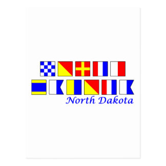 Carte Postale Le Dakota du Nord a orthographié dans l'alphabet