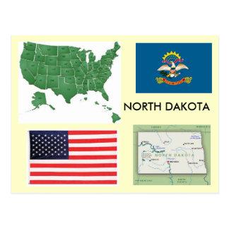 Carte Postale Le Dakota du Nord, Etats-Unis