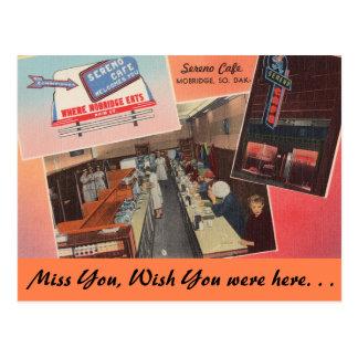 Carte Postale Le Dakota du Sud, café de Sereno, Mobridge