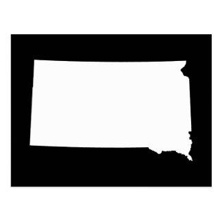 Carte Postale Le Dakota du Sud dans le blanc et le noir