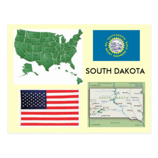 Carte Postale Le Dakota du Sud, Etats-Unis
