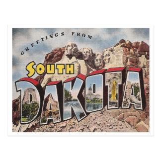 Carte Postale Le Dakota du Sud vintage