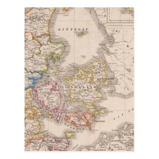 Carte Postale Le Danemark et l'Allemagne