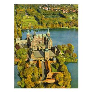 Carte Postale Le Danemark vintage, Fredericksburg, château