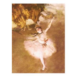 Carte Postale Le danseur classique dégazent la peinture