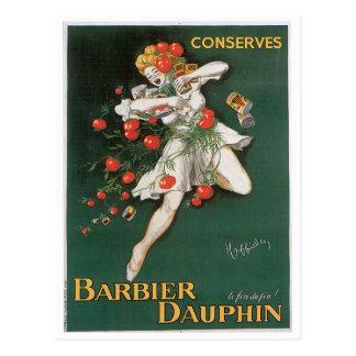 Carte Postale Le dauphin de Barbier conserve l'art vintage