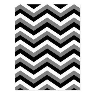 Carte Postale Le ~ de SECTEUR GRIS (une conception de zigzag)