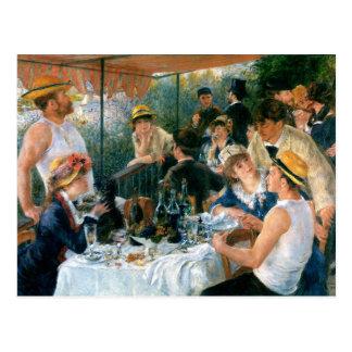 Carte Postale Le déjeuner de Renoir de la partie de canotage