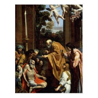 Carte Postale Le dernier sacrement de St Jerome, 1614