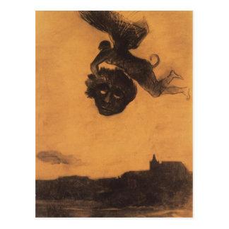 Carte Postale Le diable d'Odilon Redon- prennent une tête dans