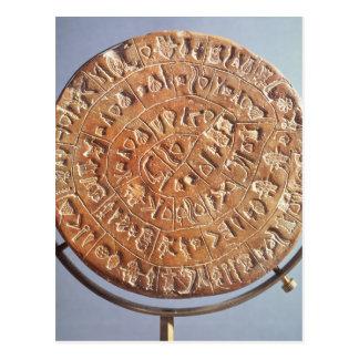Carte Postale Le disque de Phaistos, avec l'importance inconnue