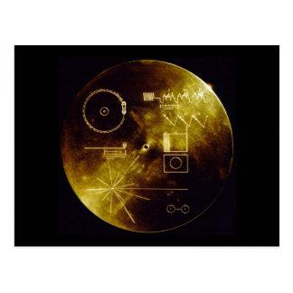 Carte Postale Le disque d'or de Voyager