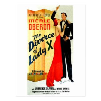 Carte Postale Le divorce de Madame X