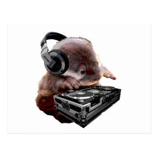 Carte Postale Le DJ aucun loutre