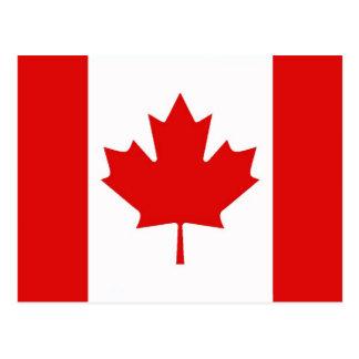 Carte Postale Le drapeau de feuille d'érable du Canada