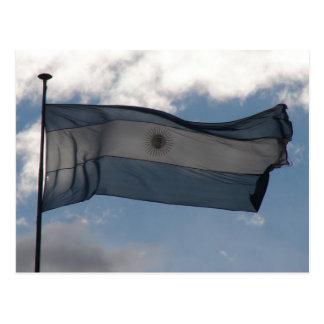 Carte Postale Le drapeau de l'Argentine