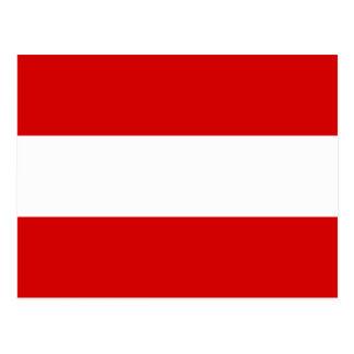 Carte Postale Le drapeau de l'Autriche