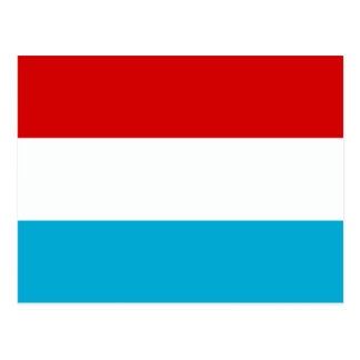 Carte Postale Le drapeau du Luxembourg