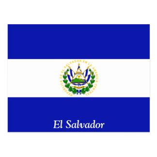 Carte Postale Le drapeau du Salvador.