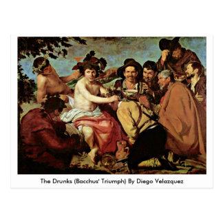 Carte Postale Le Drunks (Triumph des Bacchus) par Diego