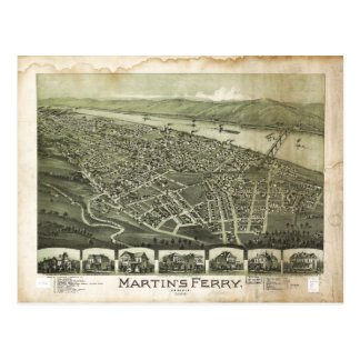 Carte Postale Le ferry Ohio de Martin par Thaddeus Fowler (1899)