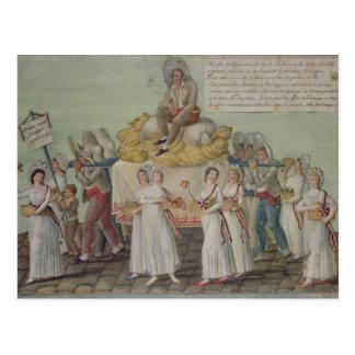 Carte Postale Le festin de l'agriculture en 1796 à Paris