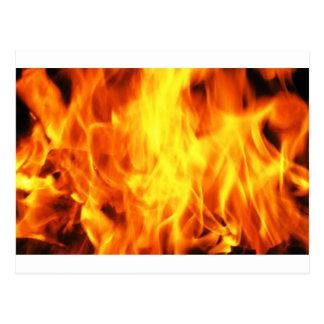 Carte Postale Le feu brûlant