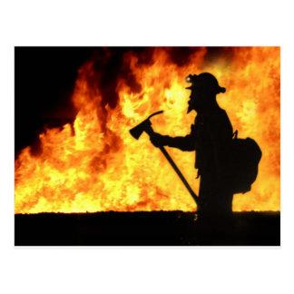 Carte Postale Le feu de Forrest