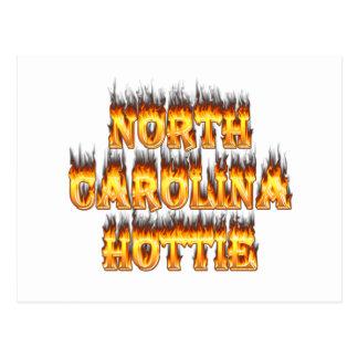 Carte Postale Le feu et flammes de la Caroline du Nord Hottie