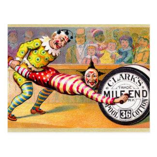 Carte Postale Le fil de couture fait le clown art commercial