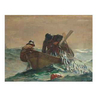 Carte Postale Le filet d'harengs, 1885 (huile sur la toile)