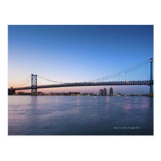 Carte Postale Le fleuve Delaware, pont de Ben Franklin