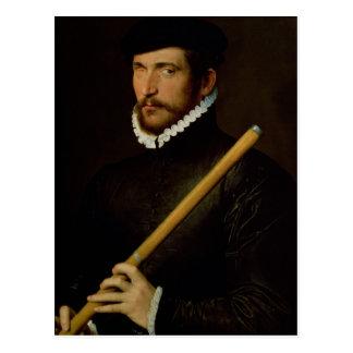 Carte Postale Le flûtiste borgne, 1566