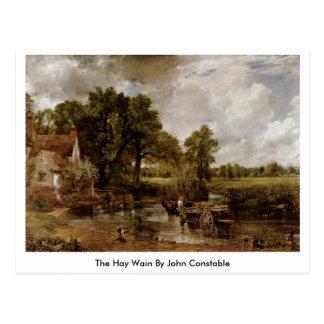 Carte Postale Le foin Wain par John Constable