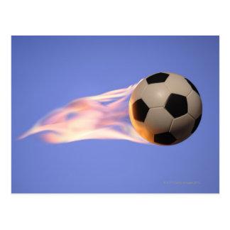 Carte Postale Le football de flamme