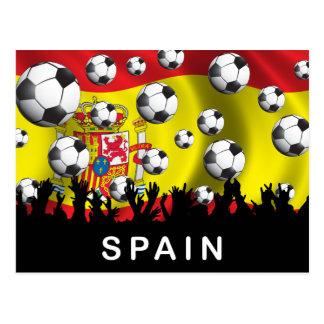 Carte Postale Le football de l'Espagne