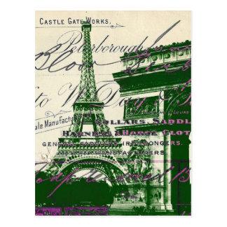 Carte Postale le Français scripts la voûte de Tour Eiffel de