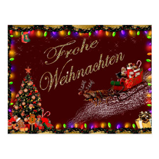 Carte Postale le frohe weihnachten