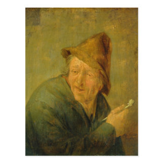 Carte Postale Le fumeur, 1640