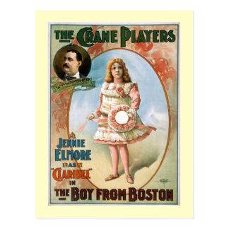 Carte Postale Le garçon du théâtre de cru de Boston