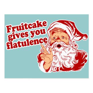 Carte Postale Le gâteau de fruits secs vous donne la flatulence