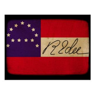 Carte Postale Le Général Lee Headquarters Flag avec la signature