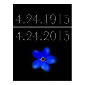 Carte Postale Le génocide arménien m'oublient pas