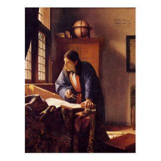 Carte Postale Le géographe par Johannes Vermeer