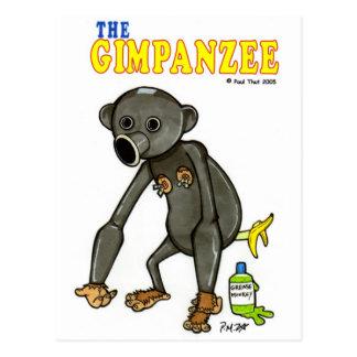Carte Postale Le Gimpanzee
