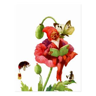 Carte Postale Le gnome de pavot