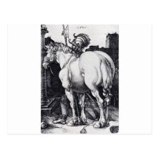 Carte Postale Le grand cheval par Albrecht Durer